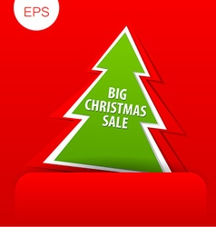 big christmas sale tree vector image