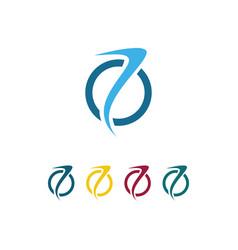 circle number 7 logo vector image