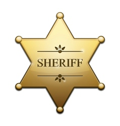 Golden Sheriff Star vector image vector image