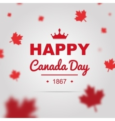 Happy Canada Day poster vector image