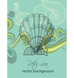 Retro sea background vector image vector image