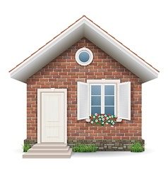 Small brick residential house vector image vector image