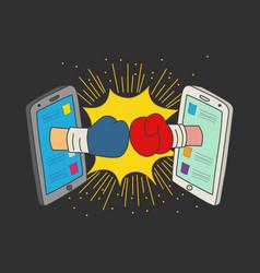 Concept for social media fight vector