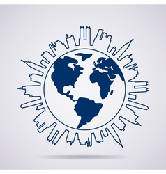 global panorama vector image vector image
