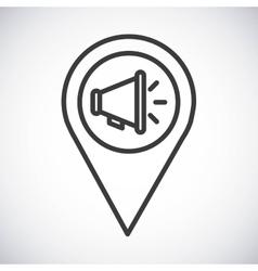 Megaphone Silhouette icon design graphic vector image