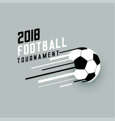 2018 football tournament background with abstract vector