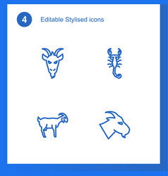 4 stylized icons vector