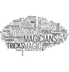 A brief history of magic text word cloud concept vector