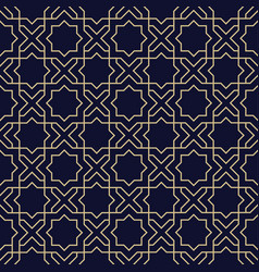 Abstract arabic seamless pattern with star vector