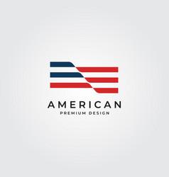 american flag logo minimalist symbol designprint vector image