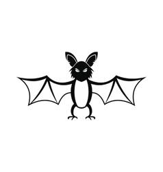 Bat icon black vector image