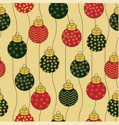 Beautiful seamless christmas baubles vector