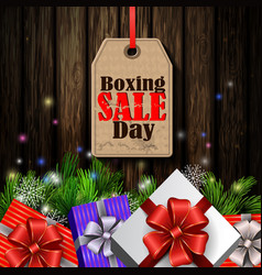 Boxing day tag vector