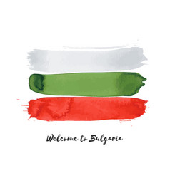 Bulgaria watercolor national country flag icon vector