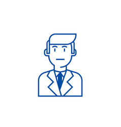businessman in suit line icon concept businessman vector image
