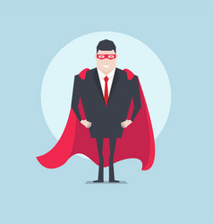 businessman standing with red cloak or cape vector image