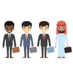 Businessmen characters different ethnicity in vector