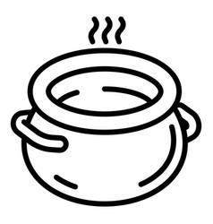 Ceramic pot icon outline style vector