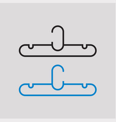 Clothes hanger icon with white background vector