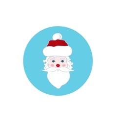 Colorful Icon Santa Claus Face Merry Christmas vector