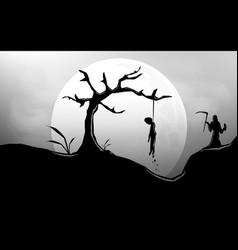 Death angel sillhouette design vector