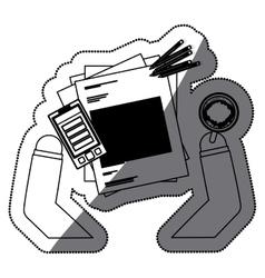 Document smartphone pencil and mug design vector