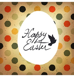 easter polka dot retro card vector image