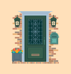 elements of architecture front door background vector image