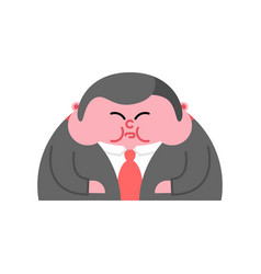 fat boss thick director office leader vector image