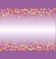 festive background with multicolored confetti top vector image