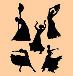Flamenco dancer woman vector