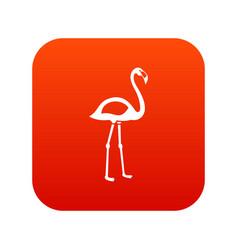 flamingo icon digital red vector image