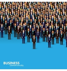 flat of business or politics community a crowd of vector image