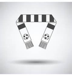 Football fans scarf icon vector image