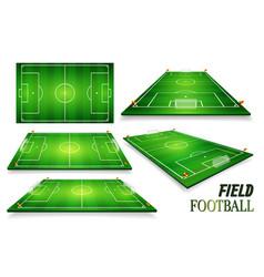 Football field soccer field set perspective eps vector