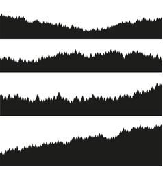 Forest christmas fir trees silhouette vector