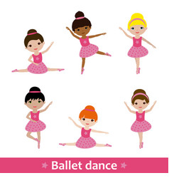 girls doing ballet vector image