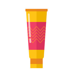 Glossy bright tube of hands skin emollient lotion vector