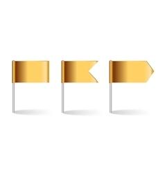 Golden Flags Set vector