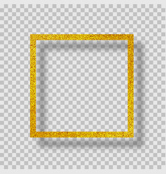 golden frame with shadow vector image