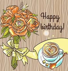 happy birthay vector image