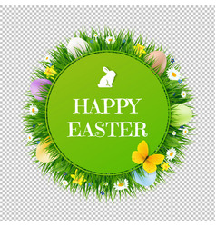 happy easter postcard transparent background vector image