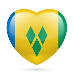 Heart icon of Saint Vincent and the Grenadines vector