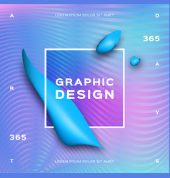 holographic neon background gradient fluid shapes vector image