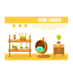 home garden banner template with place for text vector image