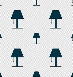 Lamp icon sign Seamless abstract background with vector image