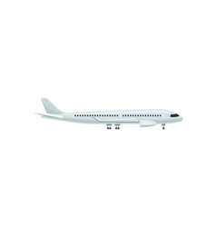 Large passenger airplane side view air transport vector