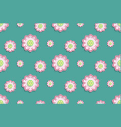 lotus flower pattern seamless in water top view vector image