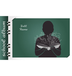 Magic book school album vector
