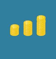 Money coin isometric template design vector